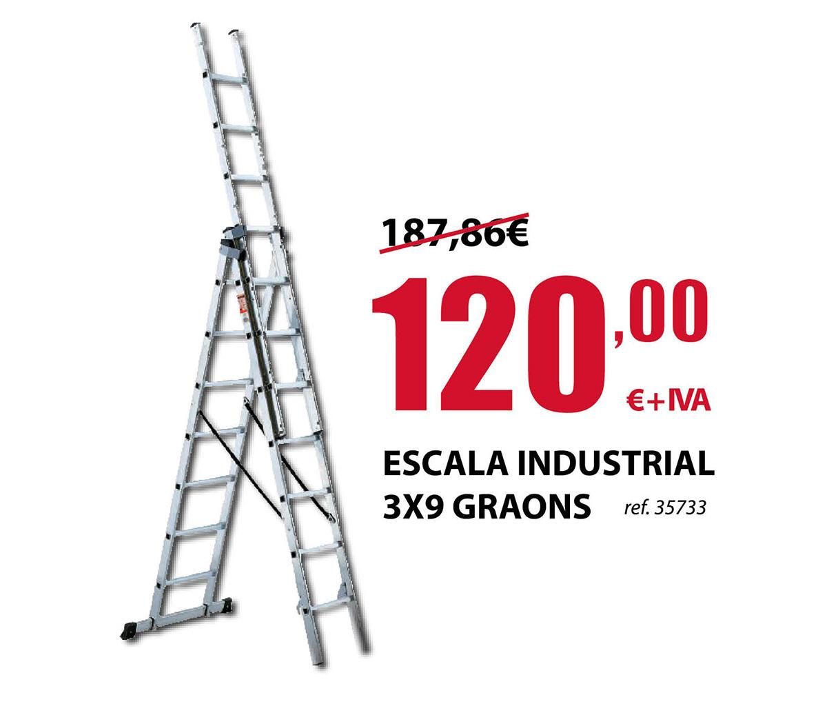 Escalera industrial 3x9 peldaños en Terrassa