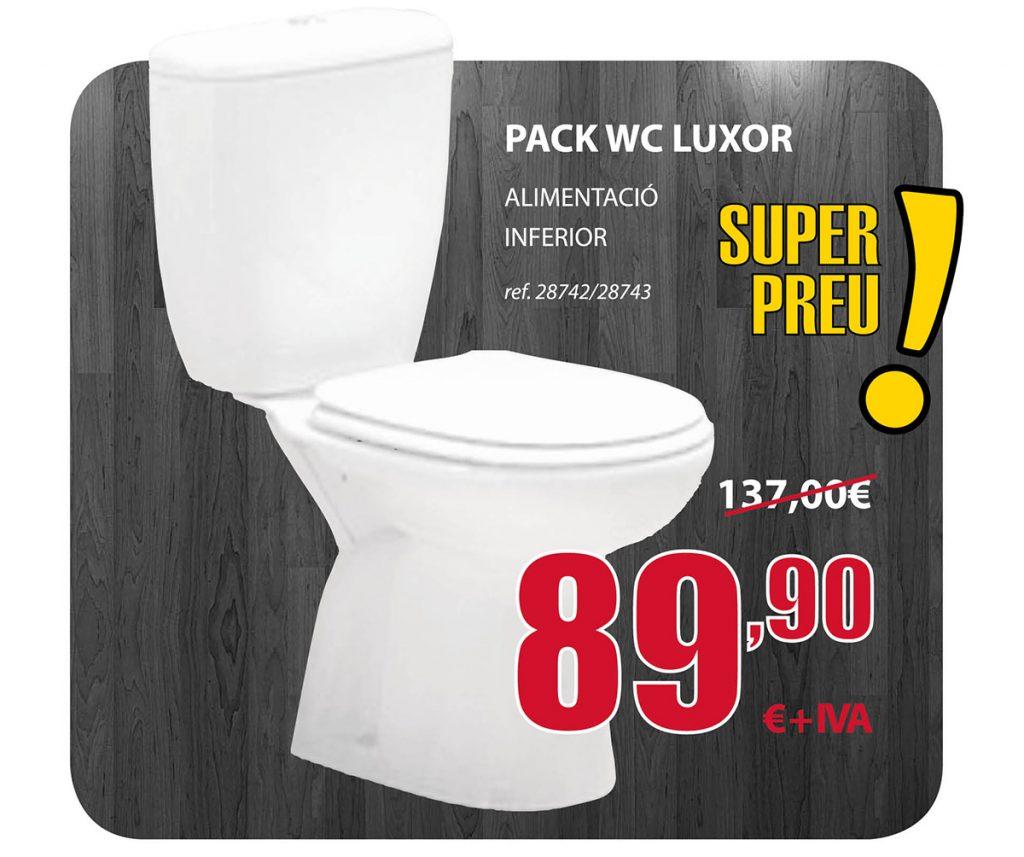 Oferta Pack WC Luxor, alimentación inferior