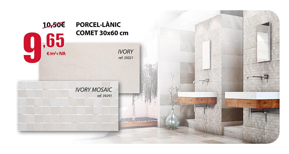 Oferta Porcelánico Comet 30x60cm en Terrassa