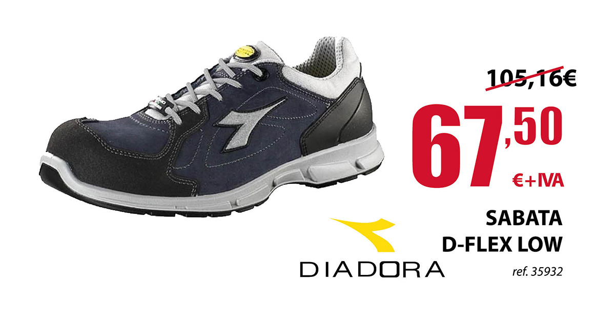 Zapato Laboral Diadora D-Flex Low